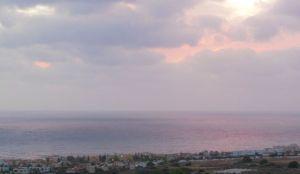 Bella vista sunset from balcony