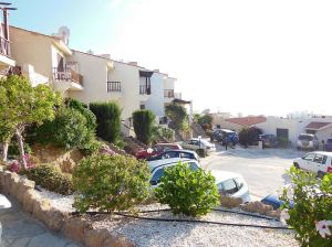 View of Bella Vista from pool - showing allocated parking