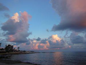 Sunset views paphos harbour2